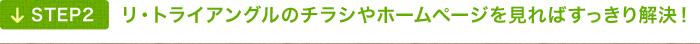 リ・トライアングルのチラシやホームページを見ればすっきり解決!
