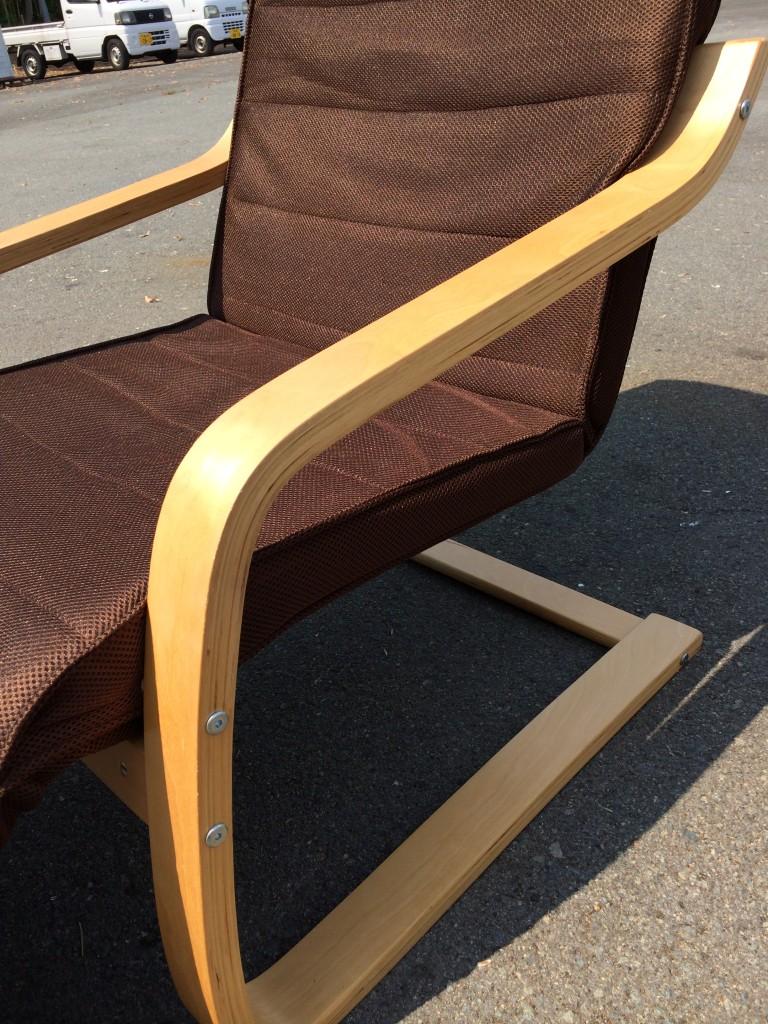 木製フレーム チェアー ブラウン