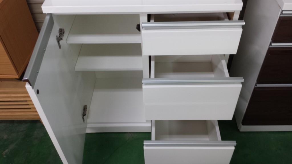 家具食器棚チェストホワイト