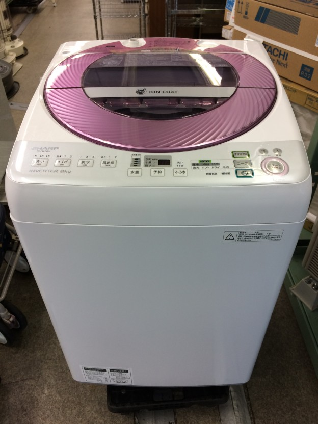 SHARP 簡易乾燥機能付き洗濯機 ES-GV80M-P 三重県伊勢市松阪市津市