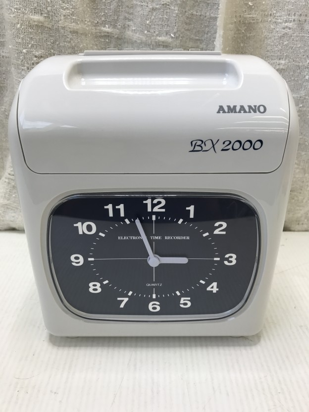 AMANO 電子タイムレコーダー BX2000 三重県伊勢市松阪市津市