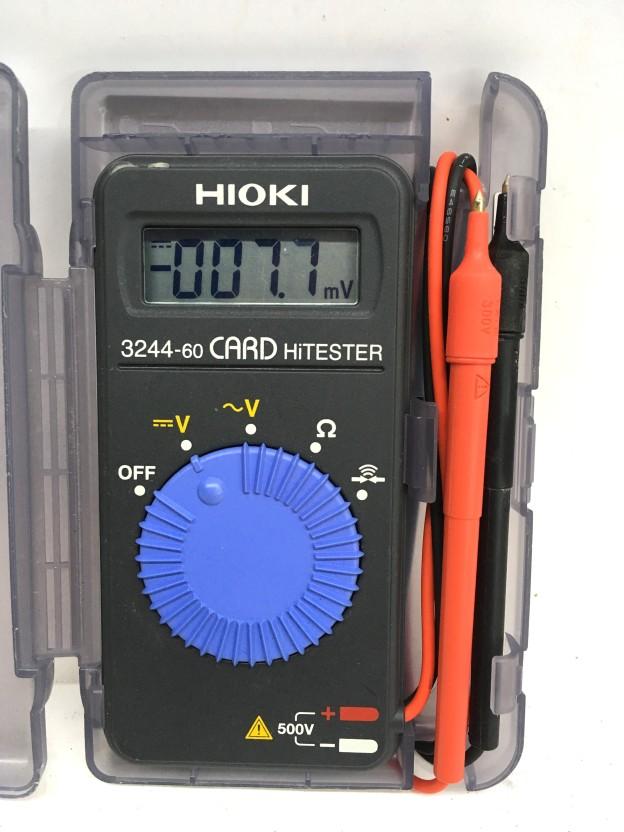 電機測定器テスターHIOKIカードハイテスタ3244-60松阪伊勢津