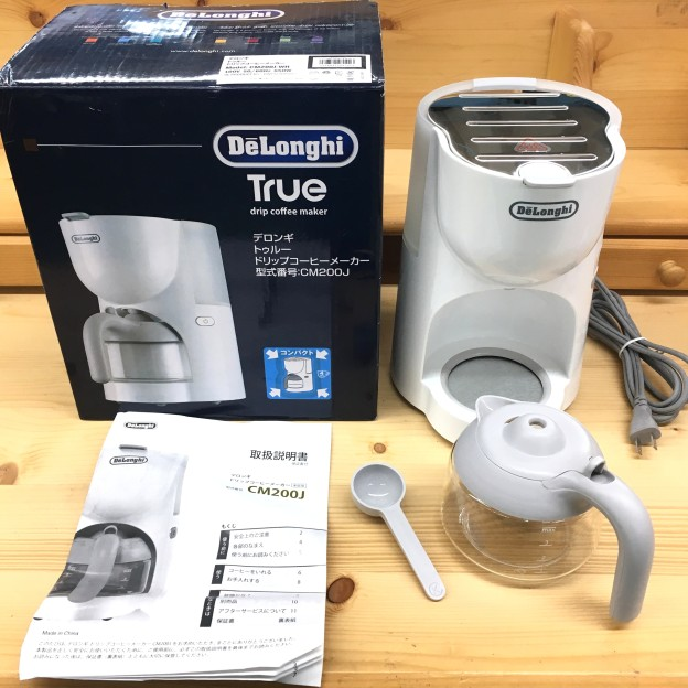 家電 デロンギ トゥルーコーヒーメーカー CM200J-WH