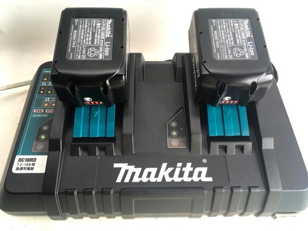 2口急速充電器マキタDC18RD バッテリー BL1860B買取