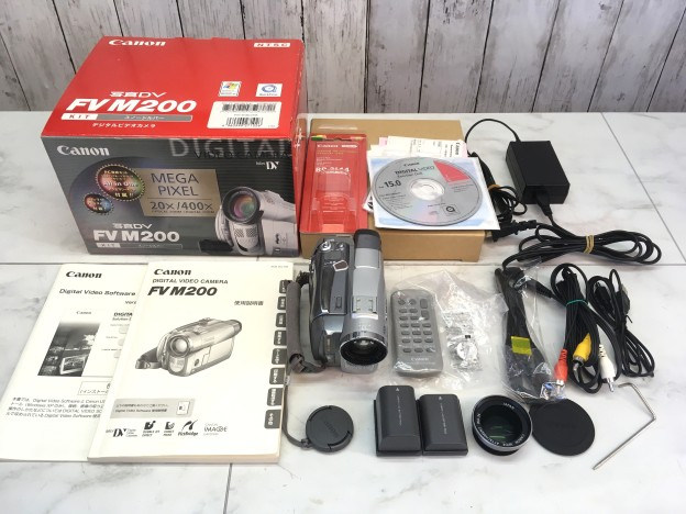 キャノンFV M200ビデオカメラ津松阪伊勢買取
