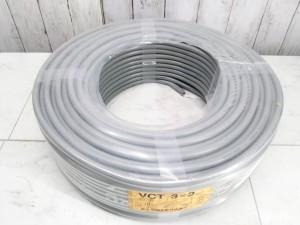 富士電線工業 VCTケーブル 3芯x2.0mm 100m巻 灰色 600Vビニル絶縁 キャプタイヤ